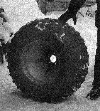 Колесо, частично заполненное пенопластом