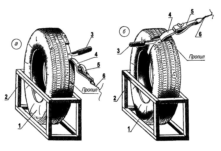 Доработка стандартной шины — снятие излишнею слоя резины